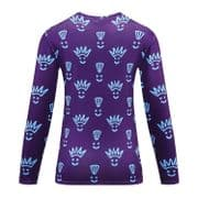 Women's Long Sleeve Purple Punk Print Running Technical Top